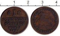 Изображение Монеты Брауншвайг-Вольфенбюттель 1 пфенниг 1735 Медь XF- Фердинанд Альбрехт I