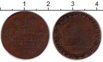 Изображение Монеты Брауншвайг-Вольфенбюттель 1 пфенниг 1820 Медь VF Карл I