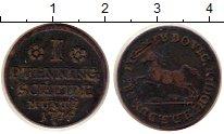 Изображение Монеты Брауншвайг-Вольфенбюттель 1 пфенниг 1734 Медь XF Людвиг Рудольф