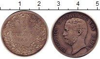 Изображение Монеты Баден 1/2 гульдена 1867 Серебро XF+