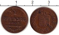 Изображение Монеты Саксен-Майнинген 1 пфенниг 1832 Медь VF