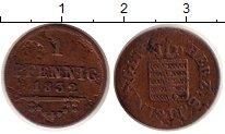 Изображение Монеты Германия Саксен-Майнинген 1 пфенниг 1832 Медь VF