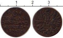 Изображение Монеты Германия Бранденбург 6 пфеннигов 1707 Серебро VF