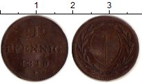 Изображение Монеты Германия Франкфурт 1 пфенниг 1819 Медь VF