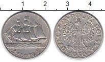 Изображение Монеты Польша 2 злотых 1936 Серебро XF 15 лет порту в Гдыне