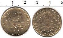 Изображение Монеты Сан-Марино 200 лир 1997 Латунь UNC-