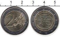 Изображение Монеты Словакия 2 евро 2009 Биметалл UNC- 10 лет Экономическог