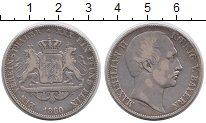 Изображение Монеты Бавария 1 талер 1860 Серебро XF-