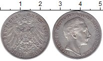 Изображение Монеты Германия Пруссия 3 марки 1908 Серебро XF