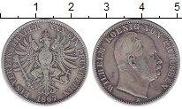 Изображение Монеты Пруссия 1 талер 1867 Серебро XF- Вильгельм.