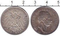 Изображение Монеты Саксония 3 марки 1909 Серебро XF Фридрих Август