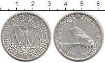 Изображение Монеты Веймарская республика 3 марки 1930 Серебро XF D. Освобождение Рейн