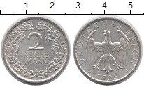 Изображение Монеты Веймарская республика 2 марки 1925 Серебро XF А