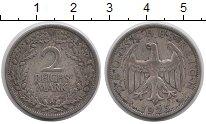 Изображение Монеты Веймарская республика 2 марки 1925 Серебро XF- А