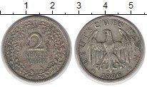 Изображение Монеты Веймарская республика 2 марки 1926 Серебро XF- F