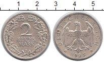 Изображение Монеты Веймарская республика 2 марки 1925 Серебро XF G
