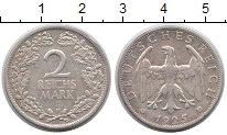 Изображение Монеты Веймарская республика 2 марки 1925 Серебро XF F