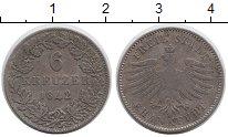 Изображение Монеты Германия Франкфурт 6 крейцеров 1842 Серебро VF