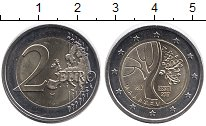 Изображение Монеты Эстония 2 евро 2017 Биметалл UNC-