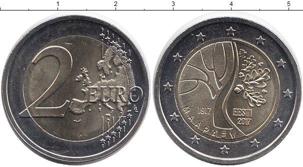 Картинка Подарочные монеты Эстония 2 евро Биметалл 2017