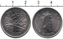 Изображение Монеты Канада 25 центов 2000 Медно-никель UNC- Миллениум. Гордость