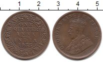 Изображение Монеты Индия 1/4 анны 1935 Бронза XF