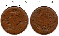 Изображение Монеты Колумбия 5 сентаво 1972 Бронза XF