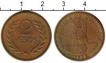 Изображение Монеты Колумбия 2 песо 1978 Бронза XF