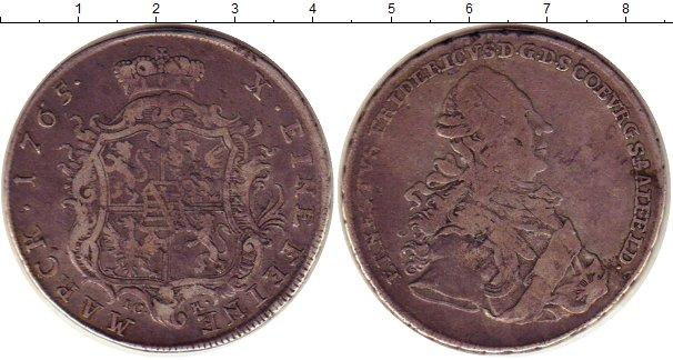 Картинка Монеты Саксе-Кобург-Саалфельд 1 талер Серебро 1765
