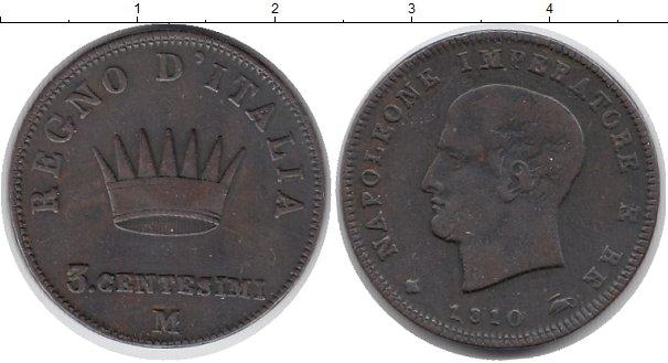 Картинка Монеты Италия 3 сентезимо Медь 1810