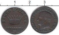 Изображение Монеты Италия 1 сентесимо 1810 Медь XF-