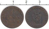 Изображение Монеты Германия Шварцбург-Рудольфштадт 1 пфенниг 1842 Медь XF-