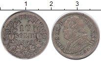 Изображение Монеты Ватикан 10 сольди 1868 Серебро VF