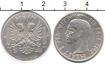 Изображение Монеты Албания 5 лек 1939 Серебро XF Виктор  Эммануил III