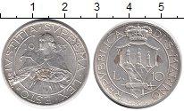 Изображение Монеты Сан-Марино 10 лир 1935 Серебро XF+