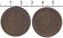 Изображение Монеты Италия Сардиния 5 сентесим 1826 Медь XF