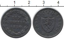 Изображение Монеты Германия Нассау 1 крейцер 1830 Медь XF-