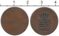 Изображение Монеты Германия Саксе-Мейнинген 2 пфеннига 1865 Медь VF