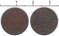 Изображение Монеты Франкфурт 1 геллер 1856 Медь XF
