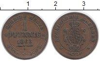 Изображение Монеты Германия Саксония 1 пфенниг 1863 Медь XF