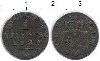 Изображение Монеты Германия Пруссия 1 пфенниг 1828 Медь VF