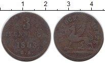 Изображение Монеты Росток 3 пфеннига 1843 Медь VF