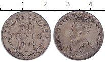 Изображение Монеты Ньюфаундленд 50 центов 1919 Серебро XF-