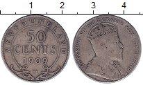 Изображение Монеты Канада Ньюфаундленд 50 центов 1909 Серебро VF