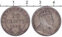 Изображение Монеты Ньюфаундленд 50 центов 1909 Серебро VF