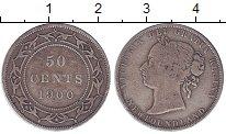 Изображение Монеты Канада Ньюфаундленд 50 центов 1900 Серебро VF