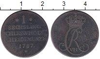Изображение Монеты Германия Шлезвиг-Хольштайн 1 сешлинг 1787 Медь XF-