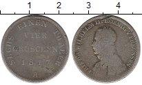 Изображение Монеты Германия Пруссия 4 гроша 1817 Серебро VF