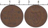 Изображение Монеты Германия Рейсс-Оберграйц 3 пфеннига 1823 Медь XF-