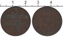Изображение Монеты Германия Рейсс-Оберграйц 3 пфеннига 1829 Медь XF-